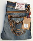 True Religion Mens Jeans Relaxed Straight OR Rope Stitch True Illusion MNR859EJD