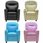New Kids Sofa Instructions Recliner PU Ergonomic Lounge Chair Children Birthday Gift