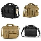 Men's Vintage Nylon Military Tactical Bag Shoulder Messenger Bag Laptop Case Bag