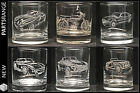 Glass Engraved Tumbler Rover V8 Cobra MG TVR SD1 Morgan FS1E Gift Father's Day
