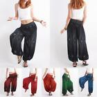 Harem Pants Women Paisley Feather Gypsy Genie Aladdin Baggy Shorts Trousers