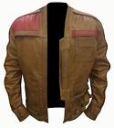 Finn Jacket Star Wars Force Awakens John Boyega Leather Jacket Pilot Poe Dameron $108.98 USD