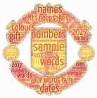 word art picture personalised gift present keepsake Manchester united birthday