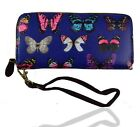 New Woman Ladies Butterfly Long Purse Wallet Coin Credit Cards Holder
