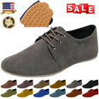Men's Flats Moccasin Loafer Casual Driving Suede Slip On Black Leisure Shoes