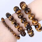 Fashion Tiger Eye  Bracelet Therapeutic Gemstone 6mm 8mm 10mm 12mm 14mm Jewelry