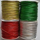 2 Meters Round Metalic Elastic Cord Sewing Trimmings Various Colours 2mm