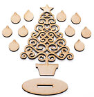 Free Standing MDF Christmas Family Tree Shape Kit with 10 x Free Baubles + Stand