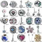 European Cz S925 Silver Fine Charm Beads Pendant For Bracelet Chain Bangle
