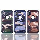 Case skin for Apple iPhone 5 SE 6 7 8 X Plus XR XS Max Camouflage Shockproof