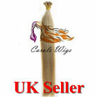 "22"" 1g 6A 22 I-Tip Double Drawn Indian Remy Human Hair Extensions UK"
