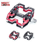 "MEETLOCKS Bike Pedals MTB CNC Aluminum Body Cr-Mo Machined 9/16"" Alex Platfrom"