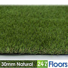 Artificial Grass, Quality Astro Turf, Cheap, Realistic Garden Green 30mm Natural