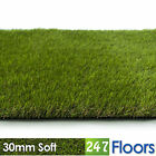 Artificial Grass, Quality Astro Turf, Cheap, Realistic Natural Green 30mm Soft