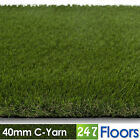 Artificial Grass, Quality Astro Turf, Cheap, Realistic Natural 40mm C-Yarn
