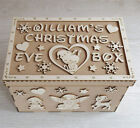 Personalised Christmas Eve Box Gift Wooden MDF Xmas Name Engraved Craft (B1)