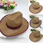 Hot Sale Fashion Men Boy Summer Casual Travel Cowboy Straw Hat Sun Hat