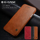 Luxury Slim Genuine Leather Wallet Card Flip Case Cover For Samsung Galaxy S8