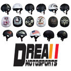 TORC T55 Half 1/2 Open Face Helmet Drop Down Sun Visor Motorcycle Scooter DOT