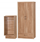 Holland Oak Bedroom Furniture - Bedside, Chest, Wardrobe, Beds, Dressing Table