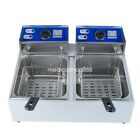 8L/16L Electric Tabletop Deep Fryer Commercial Basket French Fry Restaurant USA!