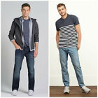 Authentic Abercrombie & Fitch Men's Slim Straight Jeans - Dark or Light Wash