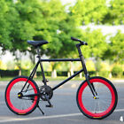 20'' Carbon Steel Wheel Rear Pedal Brake Fiets Fixie Mountain Bicycle Durable
