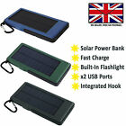 EXTERNAL SOLAR POWER BANK PORTABLE BATTERY PACK FAST CHARGE For LENOVO TAB 3 8