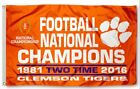 Clemson University 2016 National Championship NCAA Team 3x5 ft Flag 6 Styles