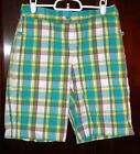 Izod Bright Comfortable Plaid Shorts Size 2 Free Shipping in the USA