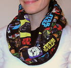 Star Wars Scarf Winter Fleece Infinity Eternity Circle Loop Warm Thick Handmade $22.99 USD