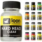 LOON OUTDOORS HARD HEAD - Fly Tying Head Cement Clear Black White Red Pink Blue