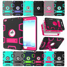 Heavy Duty Shockproof Military Rubber With Hard Stand Case Cover For Apple Ipad