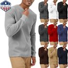 Kyпить Mens Heavy T SHIRTS Long Sleeve Waffle Tee THERMAL Cotton Sweater Winter на еВаy.соm