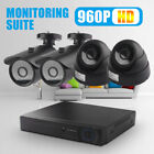 UK CCTV DVR Camera Security HD System 960P Outdoor Video HDMI 4CH 1080N Home Cam