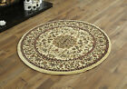 MODERN MEDIUM BEIGE CIRCLE RUG TRADITIONAL PATTERN CLASSIC ROUND RUGS FOR SALE