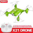 Pocket Drone Syma X20 Upgraded X21 2.4G Mini 4CH RC Quadcopter Drone 6-Axis Gyro