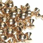 GOLD HOURGLASS BRASS BEADS FOR FLY TYING - 5 SIZES TO PICK FROM - 25 COUNT