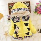Children Toddler Autumn Winter Jacket Kids Baby Girls Hooded Warm Outerwear Coat