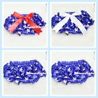 4th July Patriotic Star Print Bloomers with Various Bows for Pettiskirt 6m-3Y