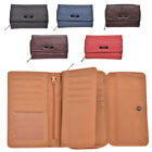 Ladies Genuine Organiser Leather Purse with Swing Section and Coin Holder