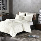 INK+IVY 3 Piece Elastic Embroidered Cotton Duvet Cover Set image