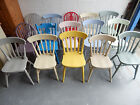 Painted Solid Wood Farmhouse Country Style Kitchen Dining Chairs Mix Colour