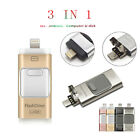 i Flash Drive USB Memory Stick HD U Disk 3 in 1 for Android/IOS iPhone PC 128GB