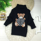 Cold Winter Baby Girls Kids Cute Bear Warm Knite Sweater Pullover Top Clothes