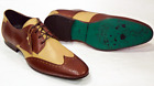NEW OGDEN DELICIOUS JUNCTION MENS RETRO SIXTIES TWO TONE MOD BROGUES BROWN/BEIGE