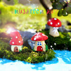Mini Mushroom Figurines Bonsai Crafts Landscape Fairy Garden Potted Plants Decor