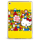 Hello Kitty Kawaii Pattern Yellow Soft Silicone Case Cover For Samsung iPad DP8