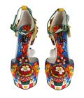 Dolce & Gabbana CD0251 Multicolor Carretto Brocade Platform Shoes Size 37 39