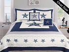 5 Piece Dallas Cowboys Western Star Design Quilt BedSpread Comforter Navy Blue image